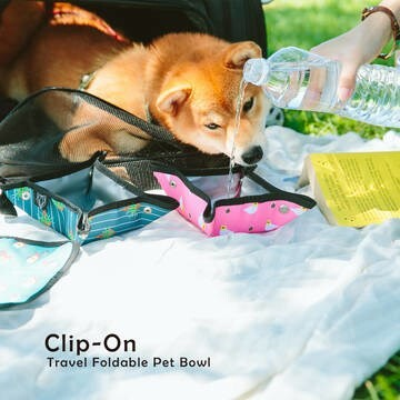 LOGO_Clip-On Travel Foldable Pet Bowl