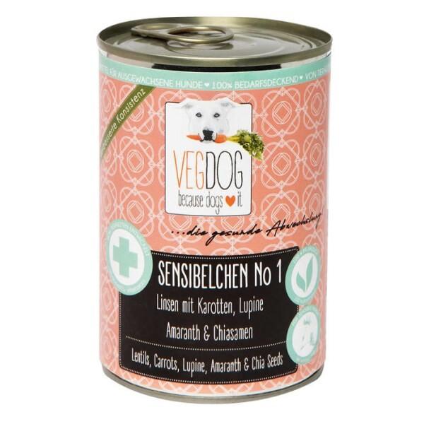LOGO_VEGDOG SENSIBELCHEN No1 - Lentils, Carrots, Lupine, Amaranth & Chia Seeds