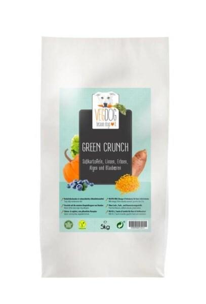 LOGO_VEGDOG GREEN CRUNCH - Süßkartoffeln Linsen, Erbsen, Algen und Blaubeeren