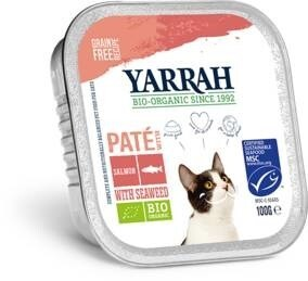 LOGO_Organic grain-free cat food pâté with salmon