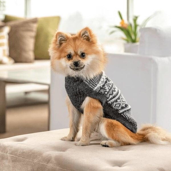 LOGO_Mountain Grey Alpaca Dog Sweater handmade by Alqo Wasi