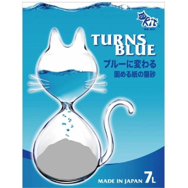 LOGO_QQKit® Paper Litter-Turns Blue (clumping, deodorant, antibacterial)