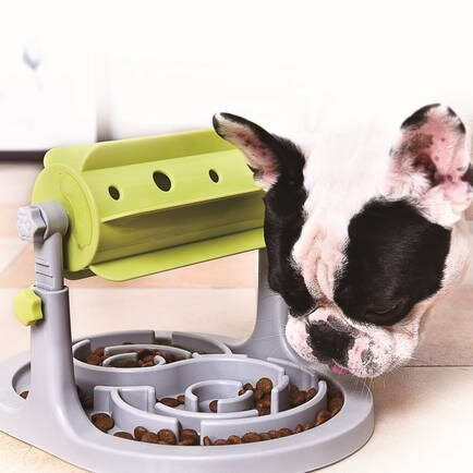 LOGO_DOGBOSS IQ TRAINING STATION Healthy snack dispenser 2 in 1 Interactive dog toy with reward factor