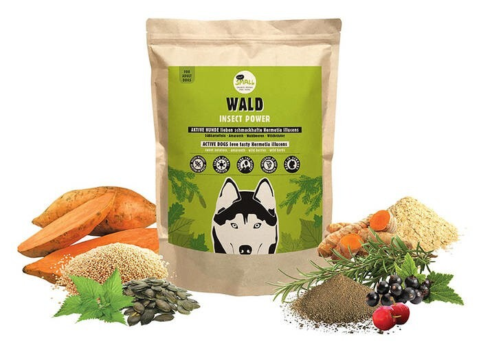 LOGO_WALD (FOREST) - Tasty food rich in insect protein for ACTIVE DOGS