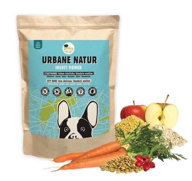 LOGO_URBANE NATUR – Raffinierte Mahlzeit aus Insektenprotein für Stadthunde