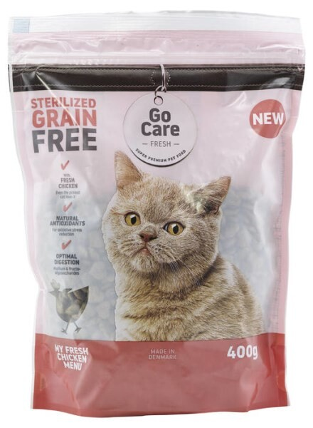 LOGO_Go Care Fresh: Complete grain free dry cat food with 8% fresh chicken