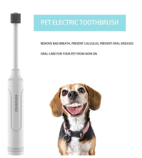 LOGO_Dog pet electric toothbrush tooth polisher teddy cat dog oral cleaning plaque stain whitening tool