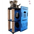 LOGO_Wholesale Fancy cat scratcher Climbing Column Double-deck DIY Assembly Pet Cat House