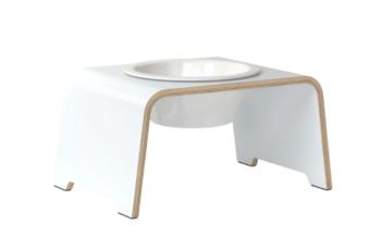 LOGO_dogBar® Single M weiß mit Porzellan