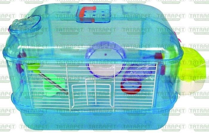 LOGO_Plastic cage for hamsters 40x28x26cm