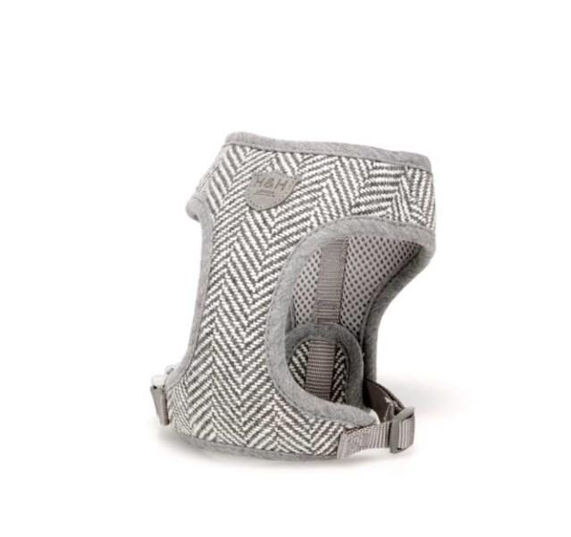 LOGO_Grey Herringbone Dog Harness