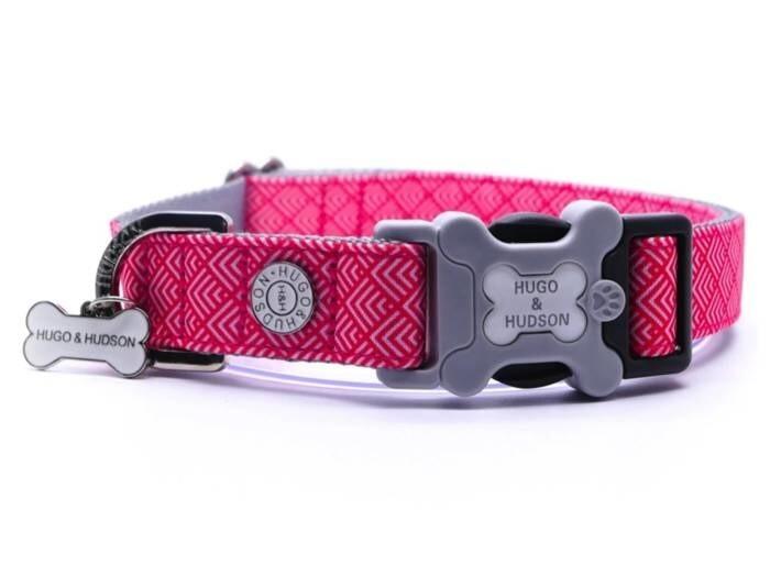 LOGO_Pink Geometric Dog Collar