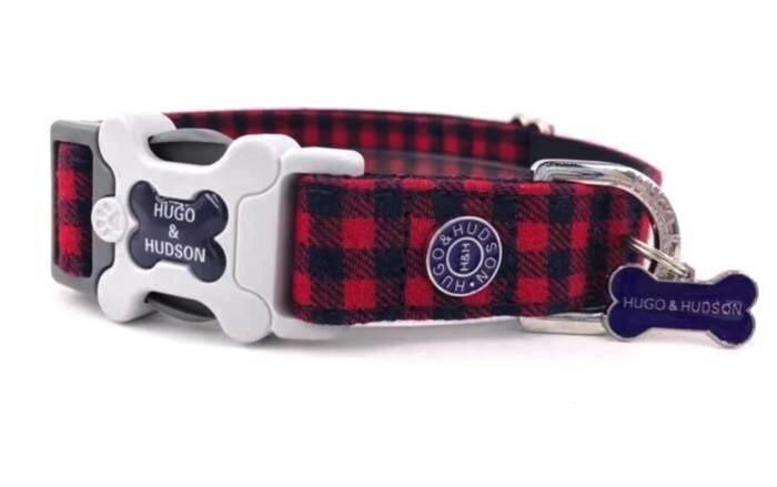 LOGO_Red Check Dog Collar
