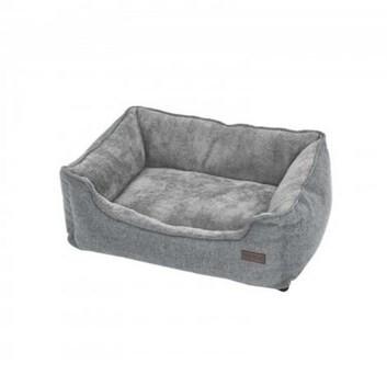 LOGO_Waschbares Hundebett 90 cm Grau