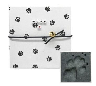 LOGO_Hunde-Pfotenabdruck Set Wuff mit Buchstabenperlen