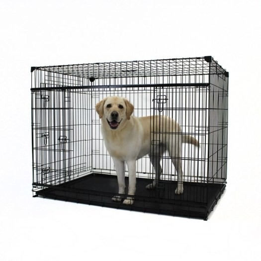 "LOGO_LUCKY DOG® 54"" SLYDER™ CRATE WITH SLIDING SIDE DOOR"