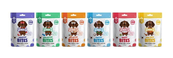 LOGO_Denzel's new soft 'n' squishy, low calorie training treats for dogs