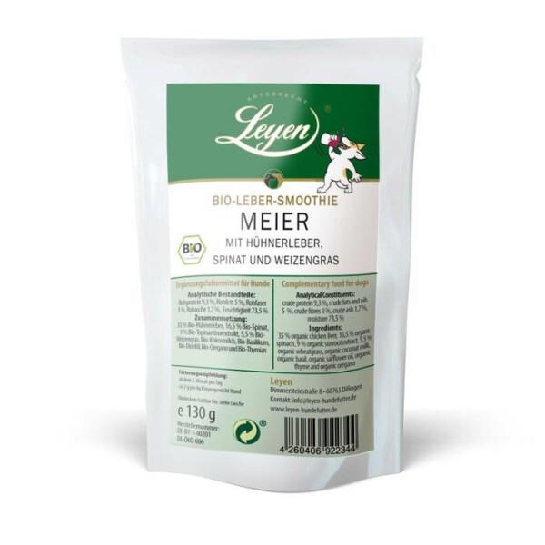 LOGO_Meier – Bio-Lebersmoothie mit Hühnerleber, Spinat und Weizengras