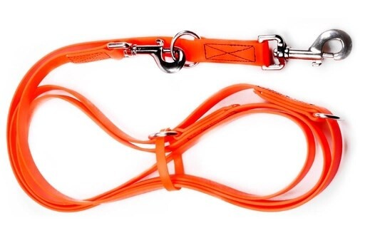 LOGO_Multiple-Adjustable Dog Lead made of BioThane® - in various colours