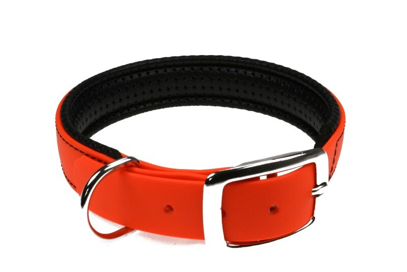 LOGO_BioThane® collar with double bar buckle - in many colours and customizable