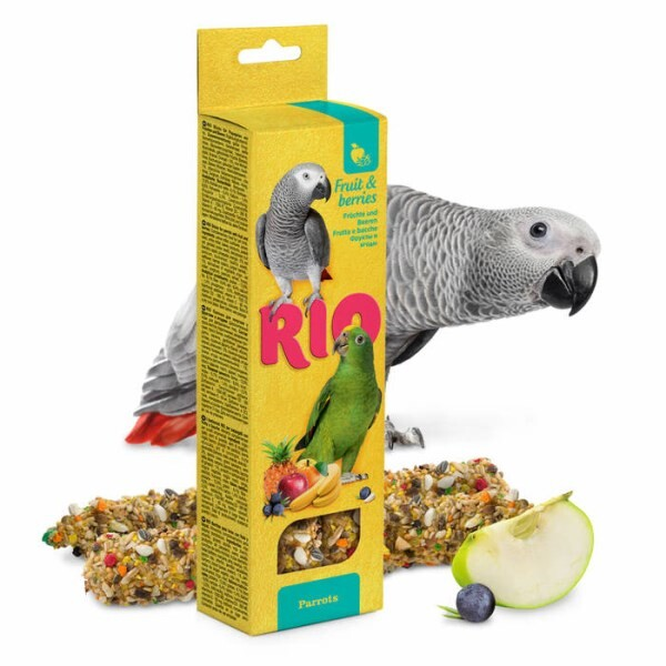 LOGO_RIO Sticks for parrots with fruit and berries