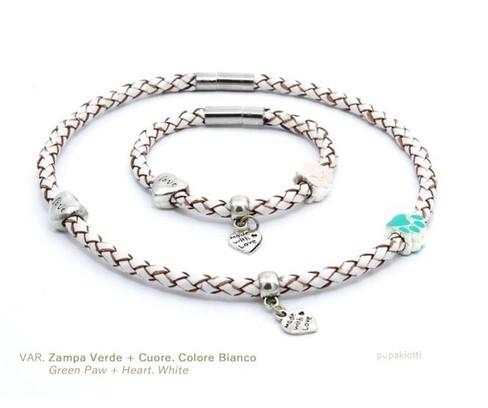 LOGO_Candora Leather necklace - tag holder for dog