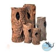 LOGO_Handmade Ceramic Log decoration for aquarium, terrarium and rodents