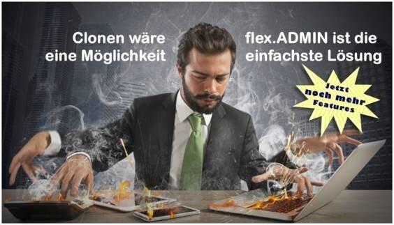 LOGO_flex.ADMIN: Die sichere und flexibel anpassbare Management- und Berichtslösung