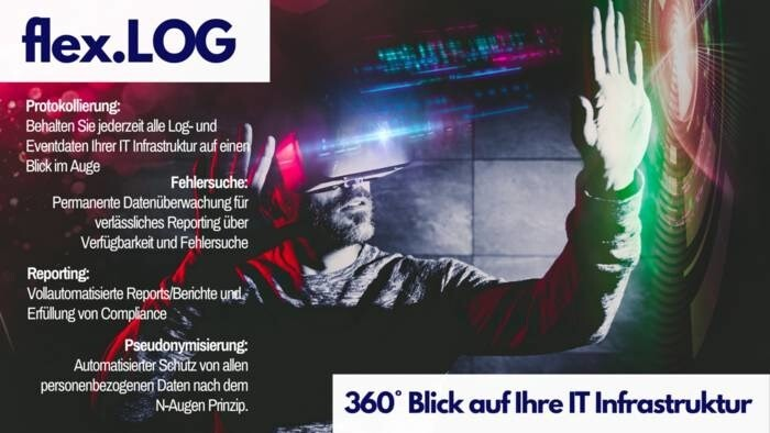 LOGO_flex.LOG: 360° Blick auf Ihre IT Infrastruktur