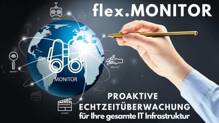 LOGO_flex.MONITOR: Proaktive Echtzeitüberwachung für Ihre gesamte IT Infrastruktur