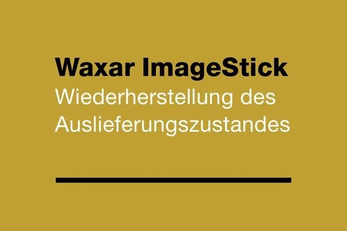 LOGO_Waxar ImageStick - For restoring the delivery status