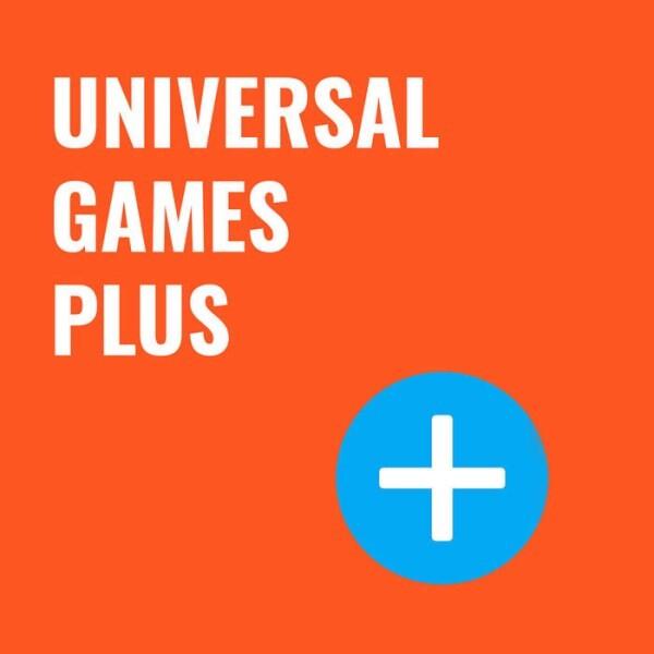 LOGO_UNIVERSAL GAMES PLUS - THEMEN ERGÄNZEN, BRANDING ANPASSEN