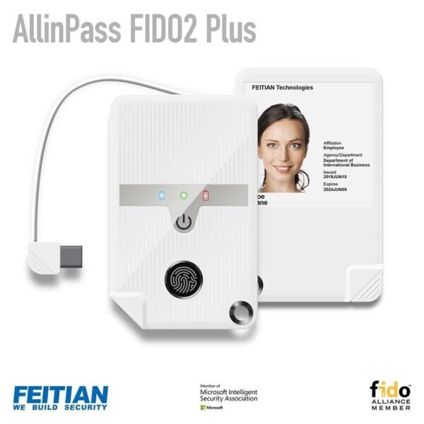 LOGO_AllInPass FIDO2 Plus - Biometric Passwordless Authentication in badge form