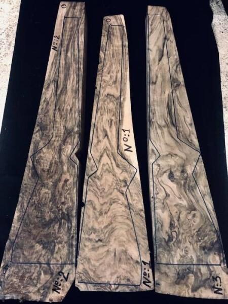 LOGO_A Group of Identical Gunstock Blanks