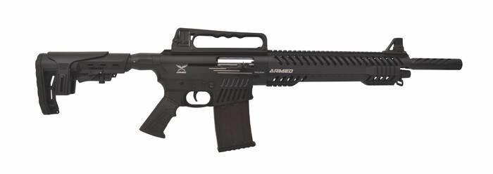 LOGO_Armed Stryker Mag Fed Semi Auto Shotgun