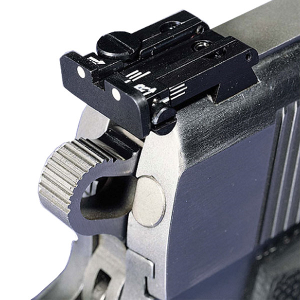 LOGO_Adjustable Rear Sights for Automatic pistols