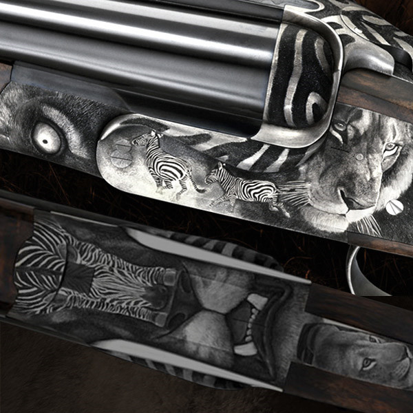 """LOGO_Luxury custom made hunting weapon engravings – """"With hammer and chisel"""""""