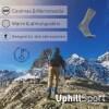 LOGO_UPHILLSPORT Premium Trekkingsocken aus Merinowolle und Coolmax