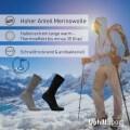 LOGO_UPHILLSPORT Merinowolle Wandersocken