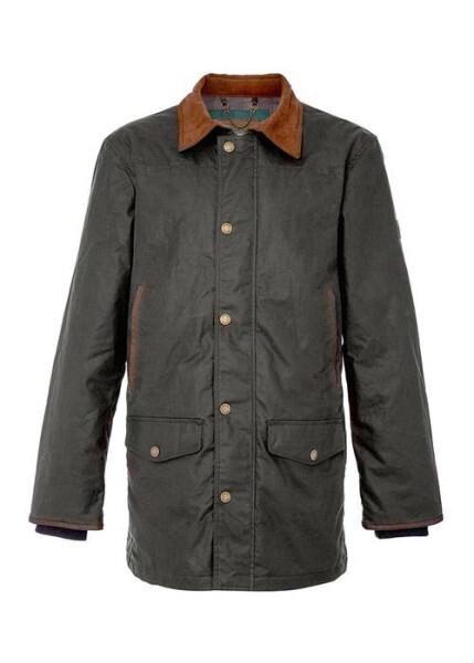 LOGO_Headford Long Lenght Men's Waxed Cotton Jacket