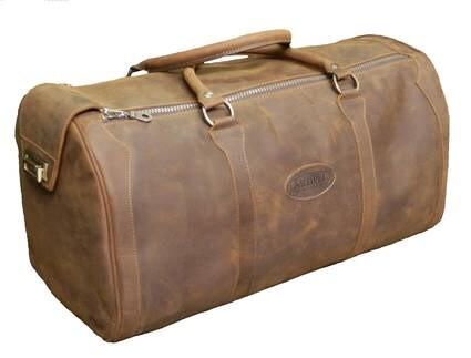 LOGO_Reisetasche aus wasserfestem Rindsleder