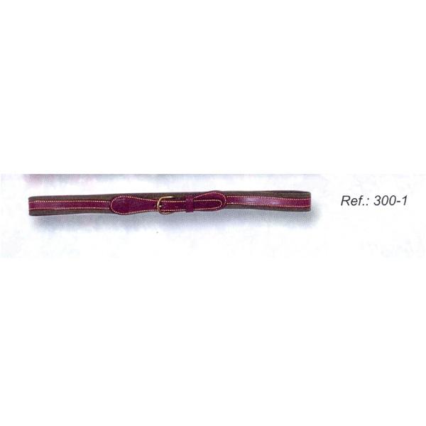 """LOGO_Leather belt, lined, width 1.2"""""""