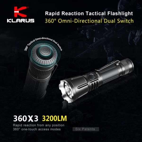 LOGO_360° Omni-directional dual switch rapid reaction tactical flashlight