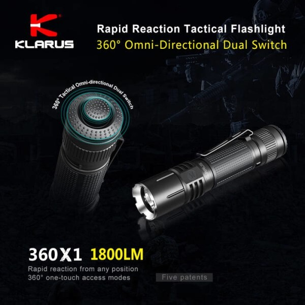 LOGO_360° Omni-directional dual-switch rapid reaction tactical flashlight