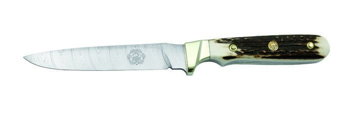 LOGO_PUMA anniversary knife 2019 with DAMASTEEL® DS93X , limited to 250 pieces, stagscales