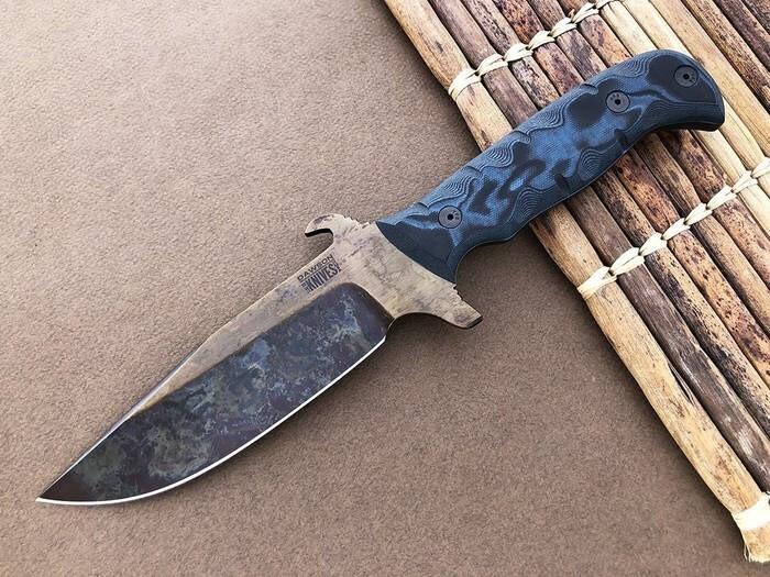 LOGO_Dawson Knives Bodyguard Black/ Blue G-10, 3V Klingenstahl