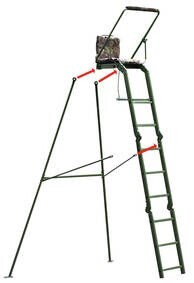 LOGO_Aluminum ladder/hide stand with adjustable rifle rest