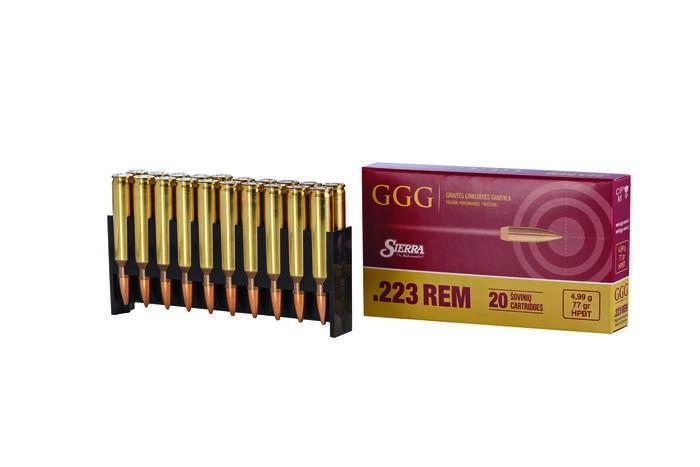 LOGO_GGG Kal. .222 Rem mit Sierra-Kugeln HPBT 77 g / 4,99 g