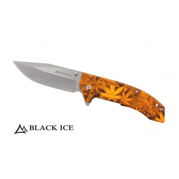 LOGO_BLACK ICE Einhandmesser Ace Orange
