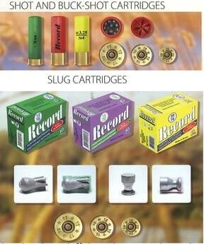 LOGO_Shot, buck-shot and bullet hunting cartridges